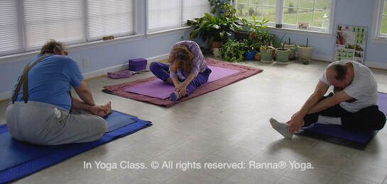 Photo: In yoga class at Beyond Yoga.  © all rights reserved.